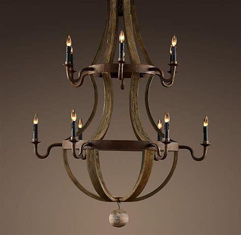 barrel chandelier lighting restoration hardware wine barrel 2 tier chandelier 2225