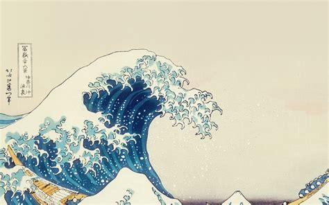 wave art hokusai japanese paint illust classic