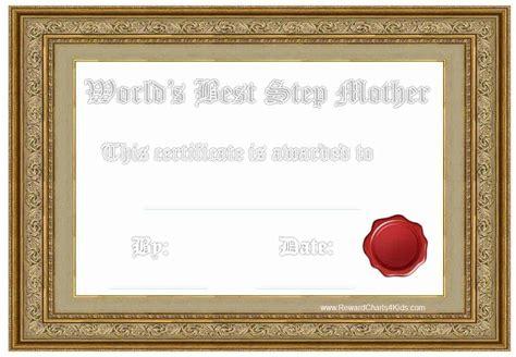 award certificates  stepmother