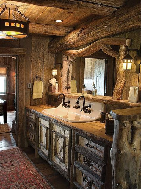 Modern Rustic Bathroom Accessories by Picturesque Western Homes With Rustic Vibes Wood Slab
