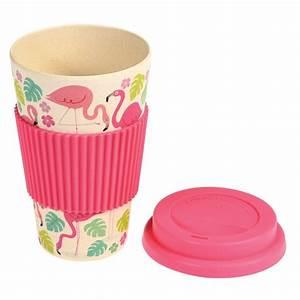 Mug Flamant Rose : mug nomade en bambou flamant rose little marmaille ~ Teatrodelosmanantiales.com Idées de Décoration
