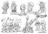 Coloring Smurf Pages Papa Print Cartoon sketch template