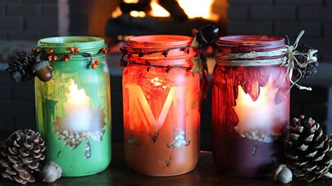 diy fall monogram mason jar candles youtube