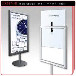 Tabletop Ordering by Table Top Sign Stand