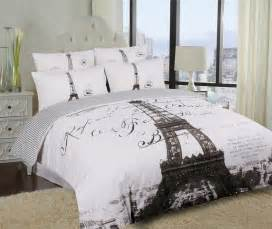 single king eiffel tower quilt duvet cover set parisienne ebay