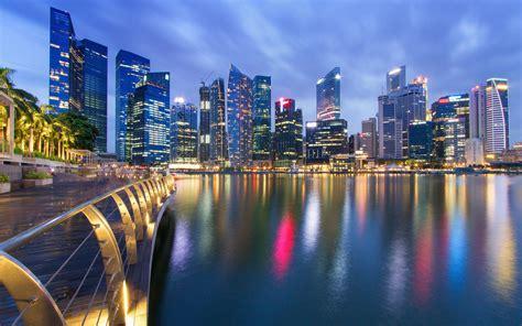 singapore city  night wallpaper  desktop