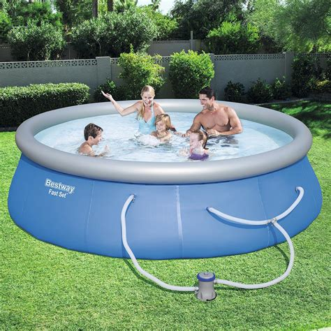 bestway  ft    deep fast set swimming pool