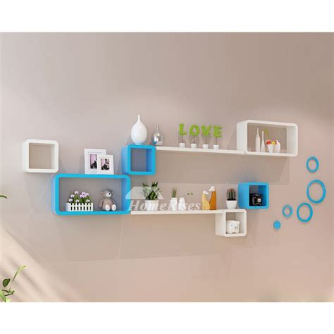 Home Wall Shelves by Living Room Wall Shelves Wooden Decorative Wall Mounted Cube
