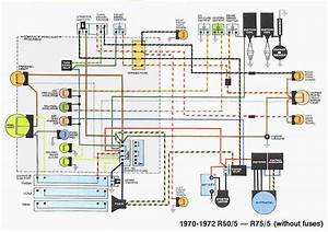 Wiring Diagram Of 1970 1972 Bmw R50 5 R75 5  60673