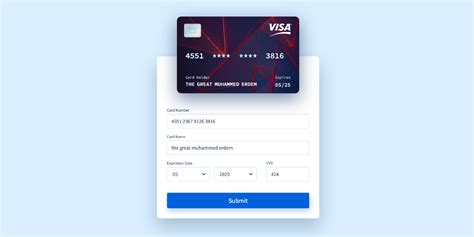 With that, they can make payments through a paypal account or credit card. GitHub - muhammederdem/vue-interactive-paycard: Credit card form with smooth and sweet micro ...