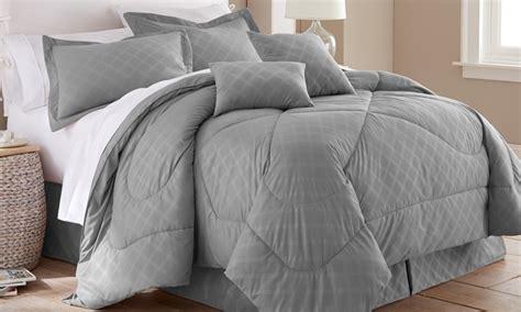 hotel new york comforter set hotel new york 6 embossed plaid comforter set groupon