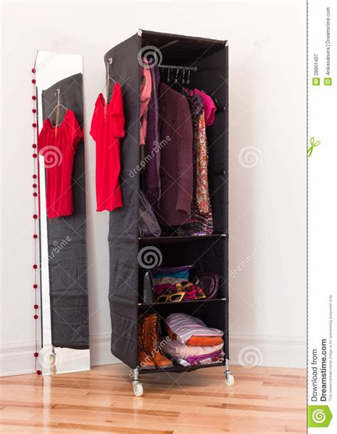 Clothes Organizer With Clothing And Accessories Stock Image - Image 28901407