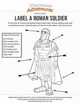 Roman Soldier Worksheet Coloring Label Bible Worksheets Armor Activities Romans Soldiers God Empire Printable Activity Rome Children Sheet Sunday Commission sketch template