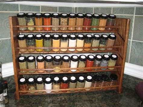Designer Spice Racks by Decorative Spice Rack With Jars Handmade 48 Jar