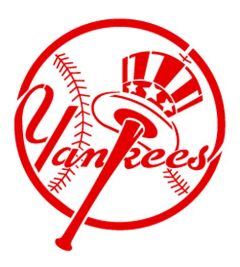 new york yankees hat and bat logo stencil in a unique and