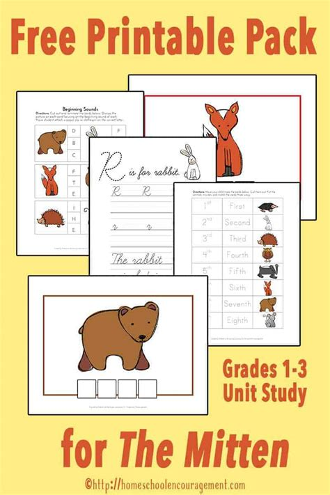 mitten unit study  printable