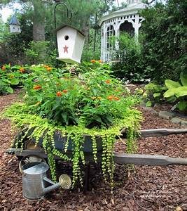 Hometalk My wheelbarrow planter