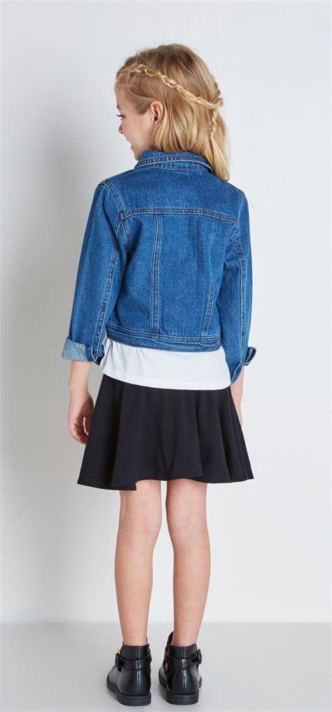 Denim Jacket Circle Skirt Outfit - FabKids