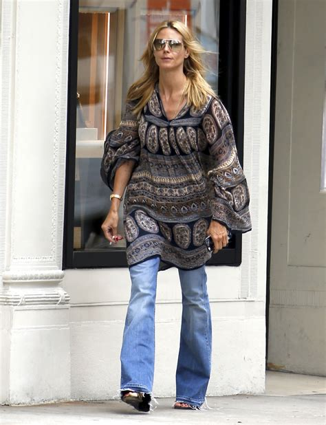 Heidi Klum Street Style Shopping Madison Avenue