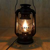 best rustic bedside lamp Fashion vintage wrought iron lantern brief rustic bedroom ...