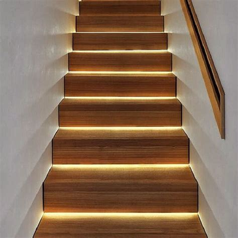 Stairway Lighting by Led Lighting Stairs A Much More Modern Look Than