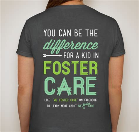 We Care T Shirt Black we foster care custom ink fundraising