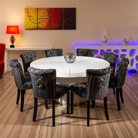 round dining room tables for 8 dining room top modern round dining room table for 8