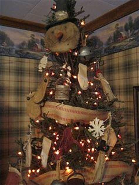 primitive country snowman tree topper burlap inspirations on burlap burlap and