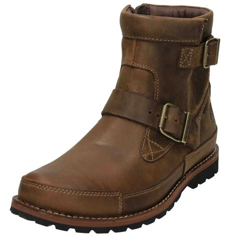 real leather biker boots timberland earthkeepers mens biker military ankle boots