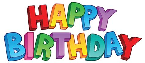 happy birthday text word png images and photo format