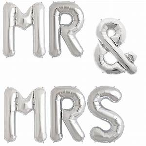 34quot mr mrs foil letter balloons With mr and mrs letter balloons