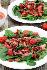 Strawberry Spinach Salad with Candied Pecans | Simply Sissom