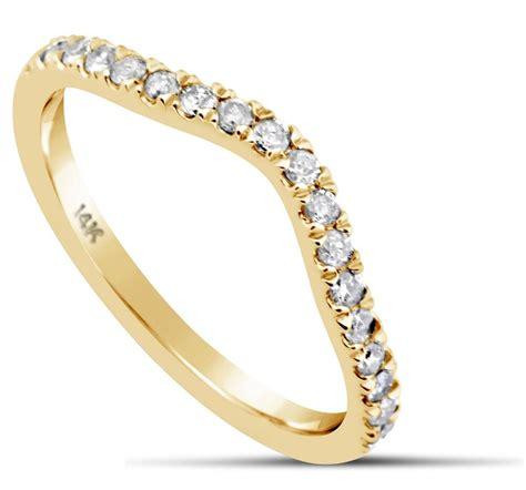 diamond wedding ring band  carat curved  yellow
