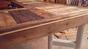 DIY Recycled Pallet L-Shaped Desk Pallet Furniture Plans