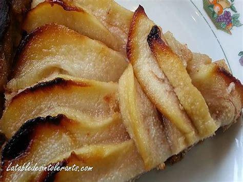 recette de tarte aux poires aux amandes sans gluten sans