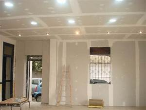 Faux Plafond Placo : faux plafond en placoplatre ba13 simple le blog de ~ Dallasstarsshop.com Idées de Décoration