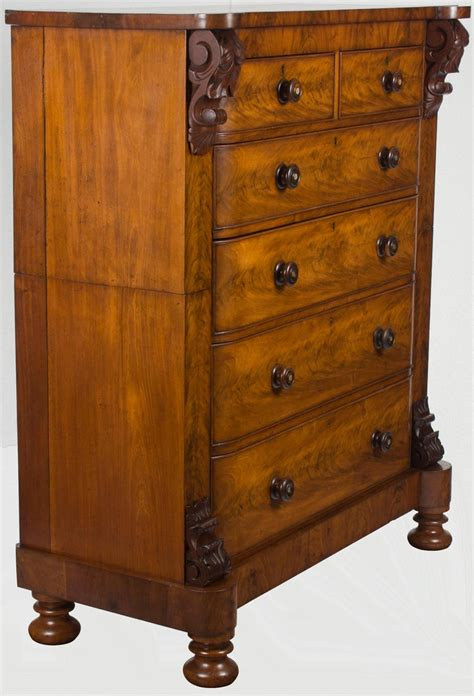 Antique campaign chest of drawers dresser mahogany tall military victorian no. Large Victorian Mahogany Tall Chest of Drawers Bedroom ...