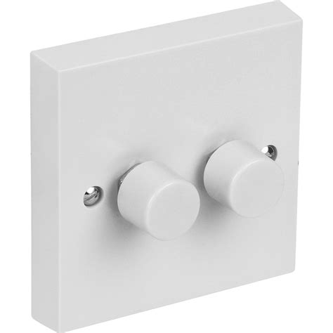 Push Dimmer Switch 250w 2 Gang 2 Way Toolstation