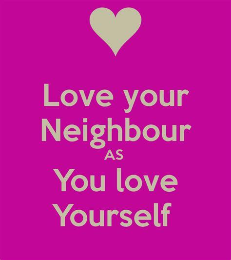 love  neighbour   love  poster csuttie