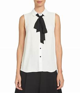 Juniors Xs Size Chart Cece Tie Detail Point Collar Sleeveless Blouse Dillards