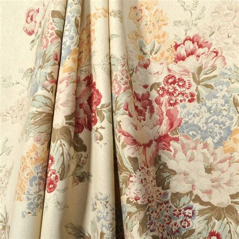 vintage drapery fabric ralph angela floral fabric floral fabric