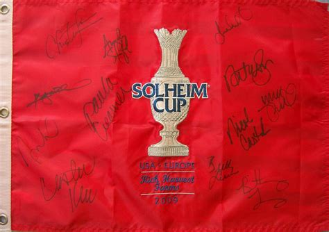 2009 U.S. Solheim Cup Team autographed embroidered golf ...