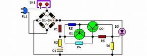 AC 220 Volts Flashing Lamps Circuit circuit diagram and