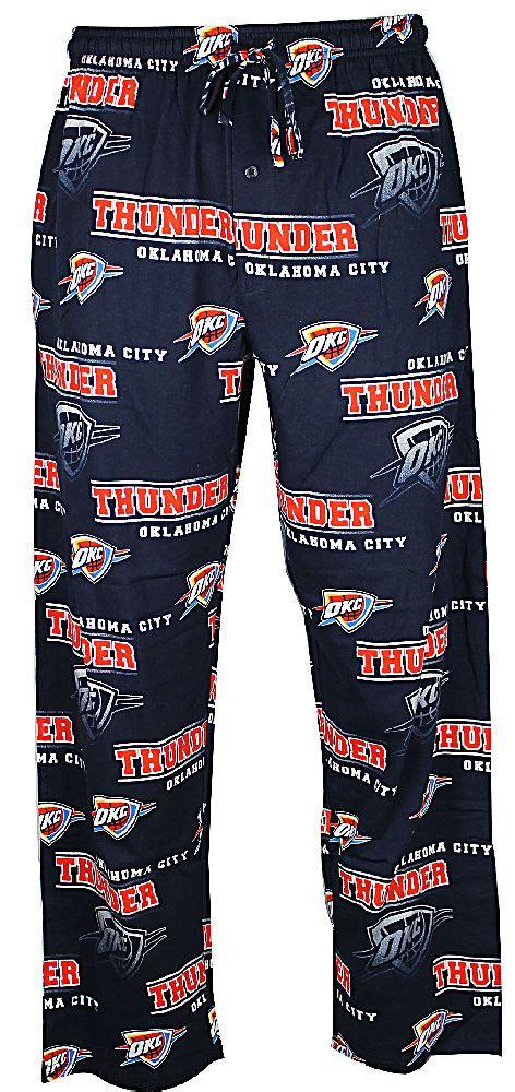 oklahoma city thunder navy fusion mens pajama pants