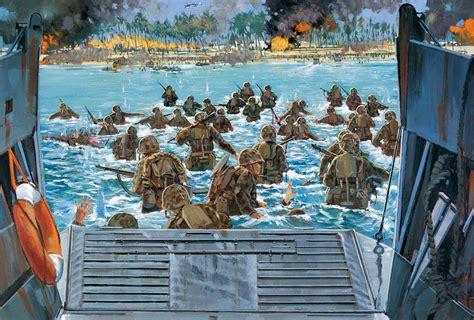 art men battle tarawa atoll   landing sea marines