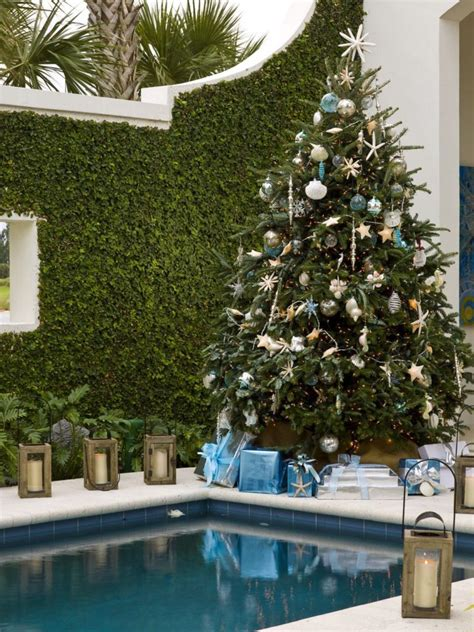 swimming pool christmas tree decorations home decorating