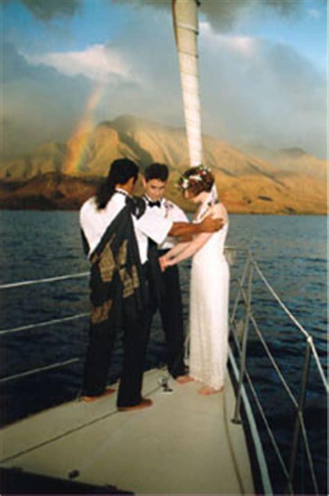 sunset sail yacht wedding maui sunset wedding