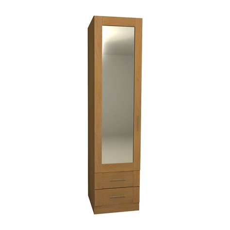 Mirrored Wardrobe With Drawers by Single Mirrored Wardrobe With 2 Drawers 2040mm High