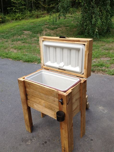 the wooden cooler my hubby made wooden cooler ideas