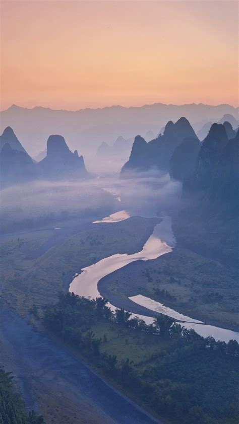 river mountains sunrise iphone wallpaper iphoneswallpapers